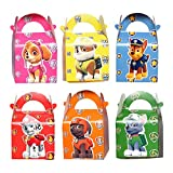 12 Pack Dog Patrol Party Gift Bags - Candy Bags for Kids Birthday Party Supplies