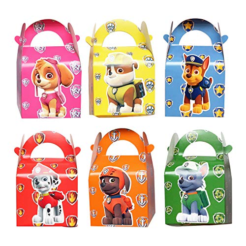 12 Pack Paw Dog Patrol Party Gift Bags - Candy Bags for Kids Birthday Party Supplies