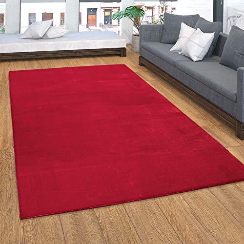 Alfombra, Suave Alfombra De Pelo Corto para Salón, Suave, Lavable, Rojo, tamaño:80x150 cm