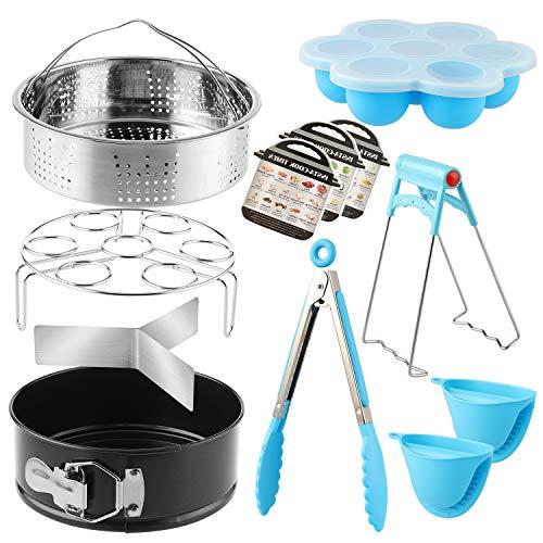 Kit d'accessoires 9 pièces pour Instant Pot 5L - Panier Vapeur/Support à œufs/Egg Bites Moule/Moule à charnière/Gant de Four/Déflecteur de Vapeur et Plus d'accessoires