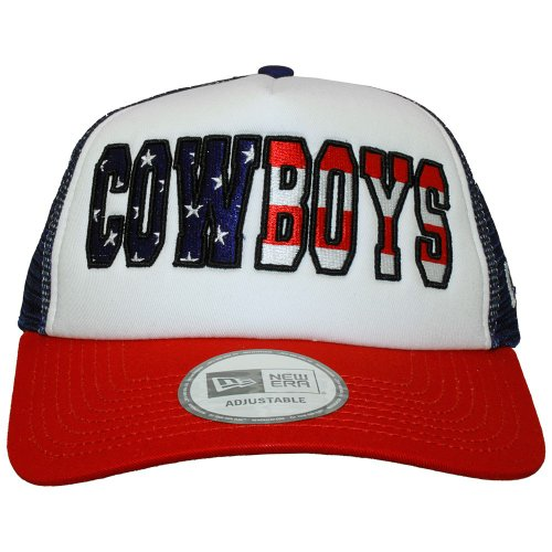 New Era - Casquette Trucker Homme Dallas Cowboys Adjustable Americana Trucker - Blue/White / Red