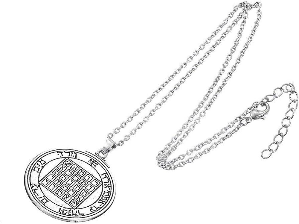 Pentacle Our shop most popular Alternative dealer Of Saturn Talisman Key Nec Mens Seal Solomon Pendant