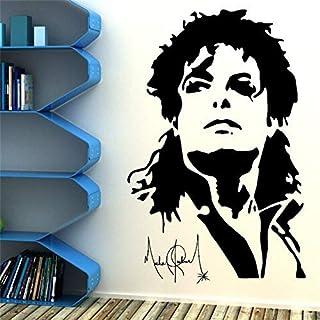 愛の音楽バーKtvポートレートのマイケルジャクソンのビニールの壁のステッカー音楽スーパースター取り外し可能な壁のポスター壁紙ティーン寝室の家の装飾42X65Cm