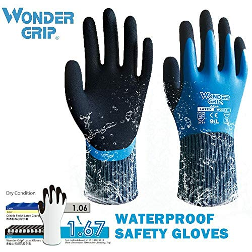 LPRED Thermo Thicken Garden Working Gloves Waterproof Coldproof Work Gloves Double Layer Latex Coated Protection Cryogenic Gloves Hand Protection (XL,WG-318)