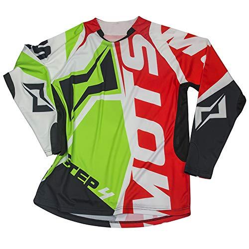 Mots Maglia Trial STEP4, Verde/Rosso, L, Verde/Rosso, Taglia L