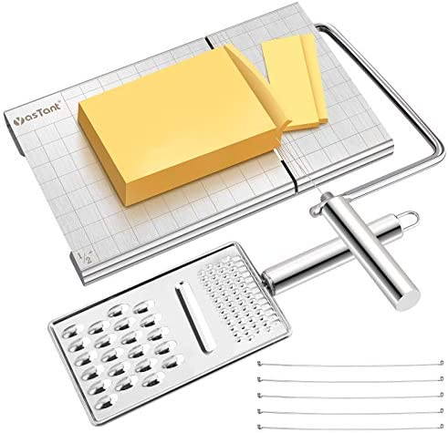 YasTant Professional Cheese Slicer Grater Set Heavy Duty Cheese Slicer Board with Precise Scale product image