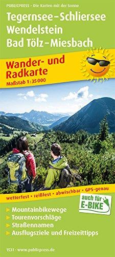 Tegernsee - Schliersee, Wendelstein, Bad Tölz - Miesbach: Wander- und Radkarte mit Ausflugszielen & Freizeittipps, wetterfest, reißfest, abwischbar, GPS-genau. 1:35000 (Wander- und Radkarte / WuRK)