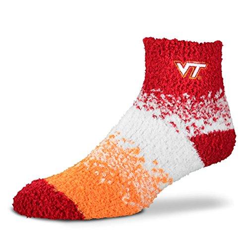 For Bare Feet NCAA Marquee Sleep Soft Socks-One Size Fits Most-Virginia Tech Hokies