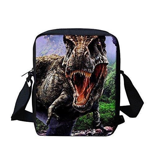 Boys Messenger Bag for School Book Bags Cross body Cute Shoulderbag Dinosaur