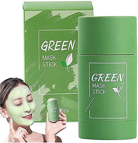 Mascarilla de arcilla purificadora de té verde, Mascarilla de arcilla purificadora de flor de rosa, Mascarilla sólida de limpieza hidratante hidratante de té verde, Mascarilla de limpieza profunda sin