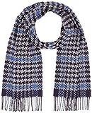 Hackett Houndstooth Window Bufanda de moda,azul ( 595 ) , 0 para Hombre