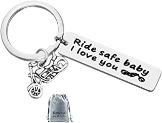 Cycling Lover's Keychain Vitality Bicycle Keychain Upscale Lucky Key Ring Active Bike Bicycle Race Souvenir, Ride Safe Baby I Love You Key Chain Gift for Driver Trucker Dad Husband Boyfriend Family