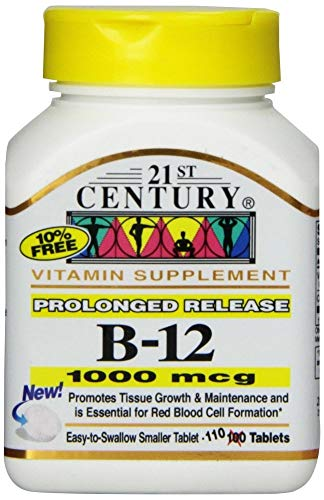 21st Century B-12 1000Mcg Prolonged Release Tablets 110 Count (2 Pack)