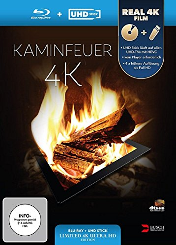 Kaminfeuer 4K (UHD Stick in Real 4K + Blu-ray) - Limited Edition [Blu-ray]