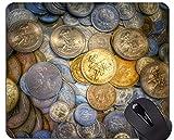 Yanteng Alfombrilla de ratón Personalizada Personalizada Alfombrilla de ratón, Moneda, Dinero Dinero Alfombrilla de Goma