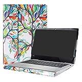 Alapmk Diseñado Especialmente La Funda Protectora de Cuero de PU para 13.3' Lenovo Yoga 730 13 730-13IKB Ordenador portátil,Love Tree