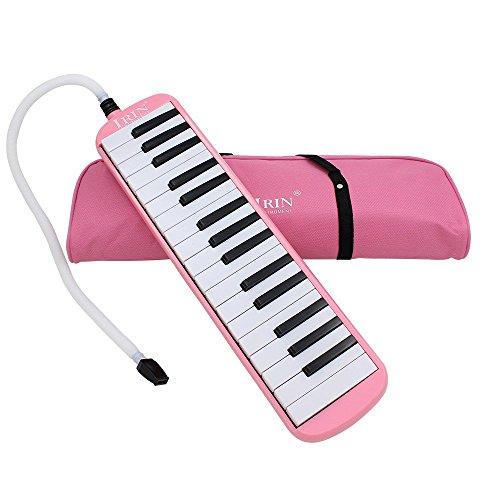 Ammoon Keyboard mit 32Tasten, Musikpädagogik, Kinder und Anfänger, mit Tragetasche Rosa
