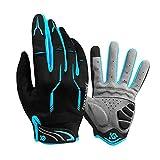 Coolchange Cycle Full Finger Gloves, Mountain Bike Gloves Fox Gel Padded Road Breathable