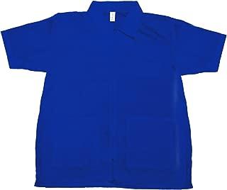 Betty Dain Nylon Barber Jacket, Royal Blue, L