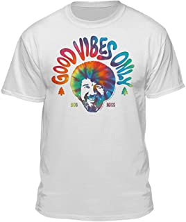Bob Ross Good Vibes Only Official Licensed Graphic T-Shirt