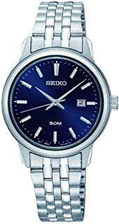 Seiko Womens Quartz Wrist Watch, Analog and Stainless Steel- SUR665