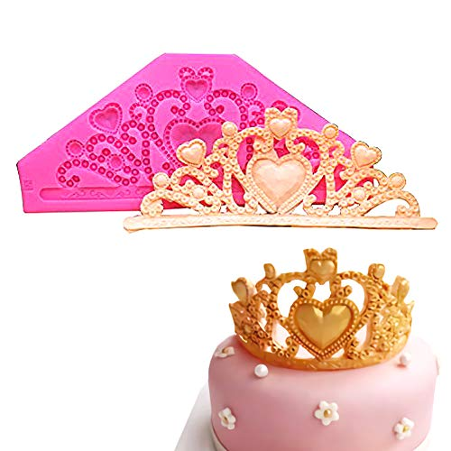 Gem Crown Mold/Princess Crown Fondant Cake Molds Chocolate Mold Wedding Cake Decoration Tools by Palksky