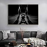 Arte de la pared 60x80 cm sin marco moderno masculino fitness kettlebell ejercicio de levantamiento de pesas pintura cartel impresiones arte de la pared cuadros decoración del hogar