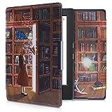 kwmobile Carcasa Compatible con Kobo Aura H2O Edition 1 - Funda para Libro electrónico con Solapa - Biblioteca mágica
