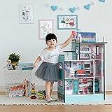 Teamson Kids 'Barcelona' Casa De Muñecas Azul Y Muebles para Niños TD-13111D