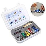 NUOLUX Caja de Unión Snap en pie cinta fabricante punzón Pin Set costura acolchar