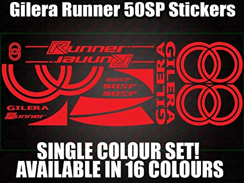 myrockshirt Motorradaufkleber Gilera Runner 50SP Sponsorset ca.30x20cm Aufkleber Sticker Decal Profi-Qualität ohne Hintergrund Bike Tuning