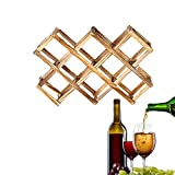 Estantería de Vino,Botellero, Estante de Vino Casero, Botellero de Madera de Diseño Moderno, Titular de La Botella de Vino, Titular de Vino, Botellas Wine Rack Madera, Estante de Vino