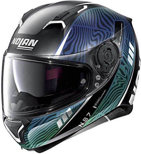 Nolan N87 Sioux N-Com Casco Negro Mate/Verde XS (55)