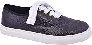 Rivir Fashion Glitzy Glow Sneakers Shoes for Women- (Black Flare)