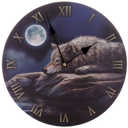 Bilderuhr - Ruhige Nacht Des Wolfes Von Lisa Parker