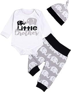 Sfuzwg 3tlg Baby Kleidung Set Baby Jungen Mädchen Kleidung Langarmbody Strampler Hose Mütze Kleinkinder Neugeborene Weiche Warme Babyset