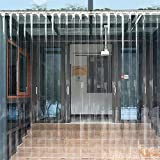 Kunststoff Winddicht Weicher Trennvorhang,dicke Klar Streifen Tür Vorhang Hardware Enthalten,transparenter Pvc-streifenvorhang Transparent 75x200cm(30x79inch)/5pcs