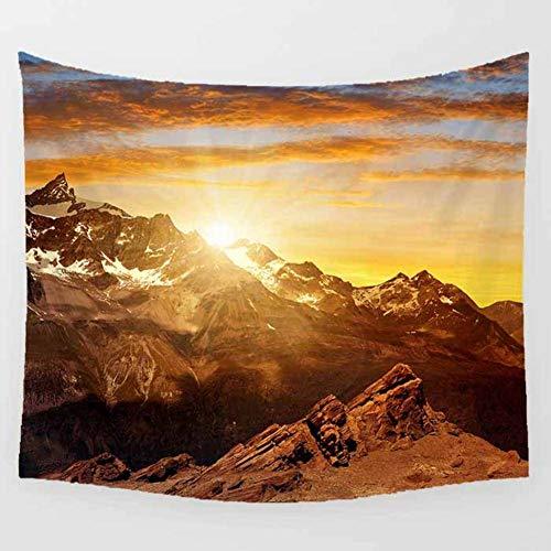 Tapiz pa?o de Playa para Hombres y Mujeres Elegante decoración de la habitación Picnic Snow Mountain Sunset Tapices de Hippie de Mandala Table Cloth-150x200cm