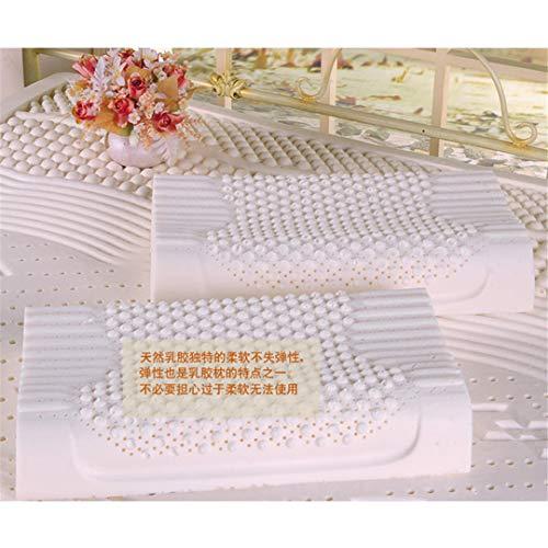 ERWRFSV La Almohada de látex Natural importada no distorsiona Las Almohadas magnéticas de Masaje para el Cuidado Cervical Off white-60X40CM 60x40cm