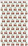 ABAKUHAUS Motorrad Schmaler Duschvorhang, Cartoon Scooters, Badezimmer Deko Set aus Stoff mit Haken, 120 x 180 cm, Hellgrün