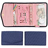 Keebofly Travel Jewelry Organizer Bag Foldable Jewelry Roll with 6 Comparment Large Capaci...