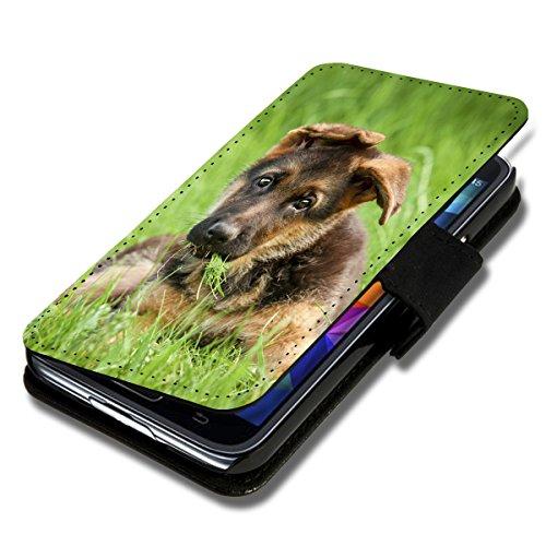 Book Style Flip Handy Tasche Hülle Schutz Hülle Foto Schale Motiv Etui für Microsoft Lumia 535 - A38 Design8