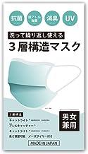 日本製 抗菌3層 布マスク 光触媒 洗える ウイルス UV 対策 マスク 光で汚れを分解 消臭 抗菌 抗ウイルス