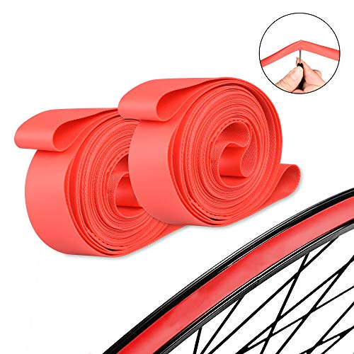SPORUS 2 Pack Bicycle Rim Strips, Anti-Puncture Bike Rim Liner, Inner Tube Protection Pad Fits Size 26