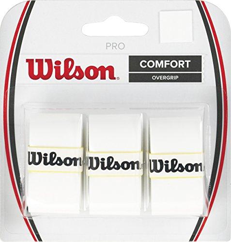 Wilson Pro Overgrip Empuñadura, 3 unidades, unisex, blanco