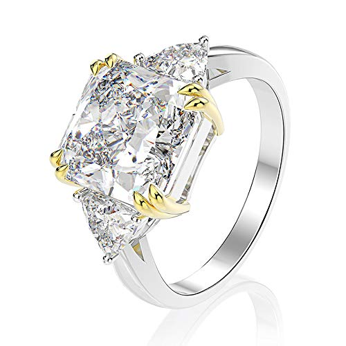 Mossan Stone Ring Simulatie Diamanten Ring Vrouw Een Karaat Van Pure Zilveren Ring 20e. 1 karaat sterrenlicht