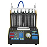 AUTOOL CT200 Petrol 6 Cylinder Car Motorcycle Fuel Injector Ultrasonic Cleaner & Tester Fuel Injection Leakage/Blocking Testing Machine Tool Kit 110V/220V (CT200 Unit)
