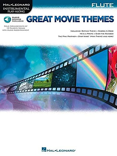 Great Movie Themes - Flute (Book & Audio Online): Play-Along, Sammelband, Download (Audio) für Flöte (Hal Leonard Instrumental Play-along)