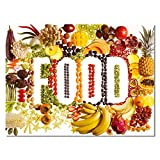 FEWFQ Verduras Fruta Seta Cocina Comida Lienzo Pintura Carteles escandinavos Imagen de Pared Sala de Estar -20X28 Pulgadas Sin Marco 1 Uds