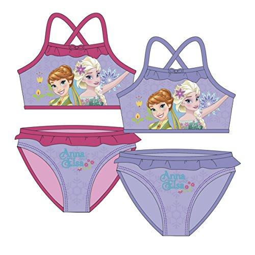 Frozen Bikini AUSWAHL Badenanzug Beachware Bademode Kinderkleidung Anna Elsa Die Eiskönigin (Pink, 8 Jahre)